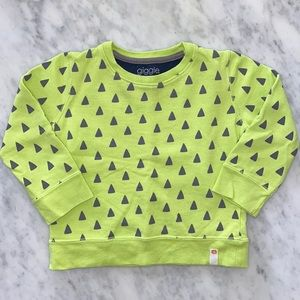 Giggle French Terry Graphic Print Sweatshirt